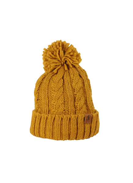 No. 367 Harvest Gold Cable Knit With Fleece Lining