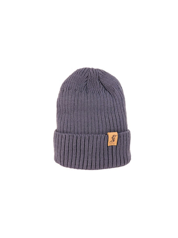 No. 348 Fleece Lined Grey Beanie