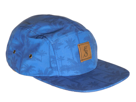 No. 318 Palm Tree print 5 panel camper