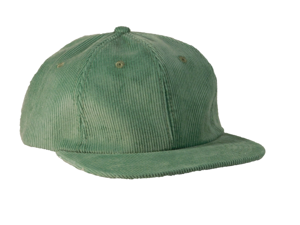 354 Minimalist Beach Green Corduroy Hat