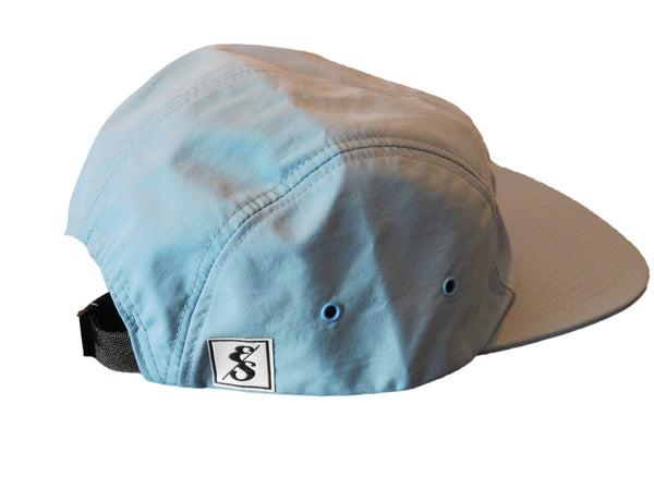 349 Tropical Leaf Nylon 5 Panel Hat