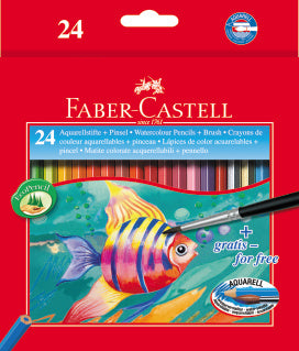 Faber-Castell's watercolour pencils 24 pack - Make It Vegan