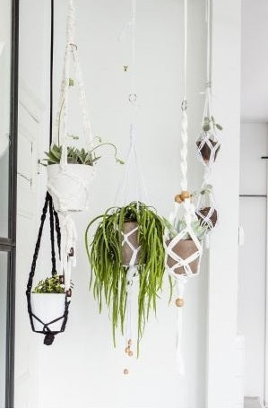 Black Macrame Hanging Basket Kit - Make It Vegan