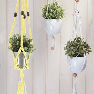 Yellow Macrame Hanging Basket Kit - Make It Vegan