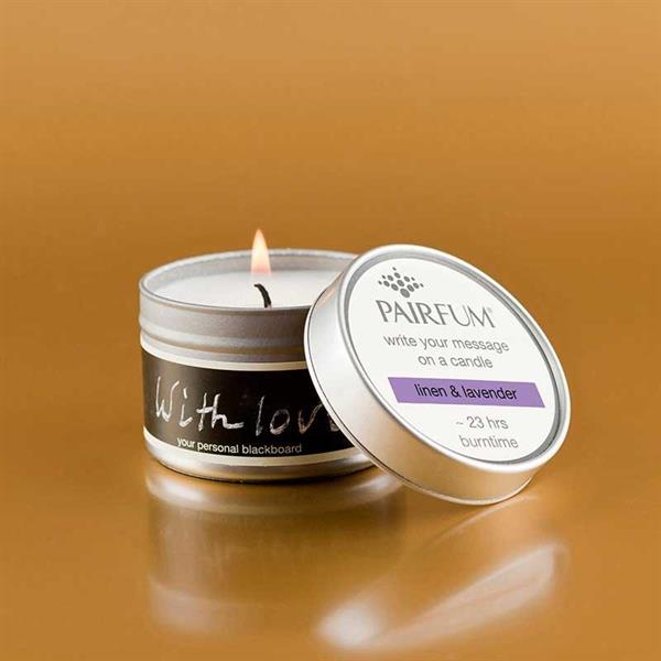 Pairfum London Message candle  linen lavender - Annas Rom