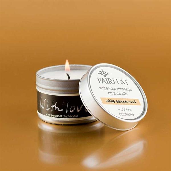 Pairfum London message candle sandalwood