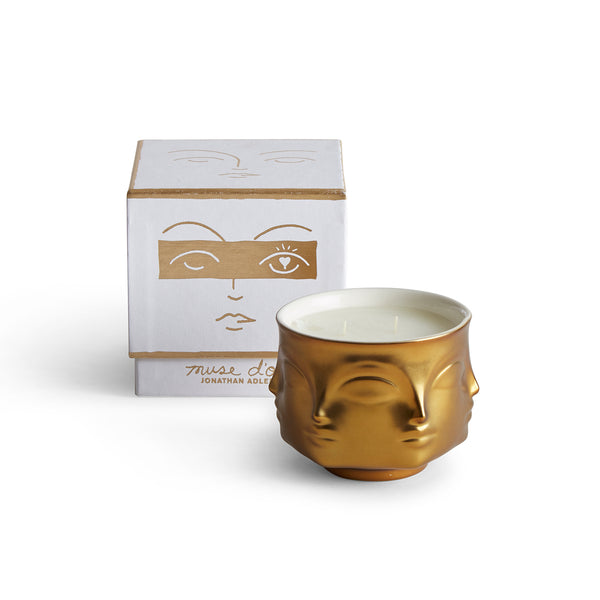 Jonathan Adler Muse D`Or Candle duftlys gull - Annas Rom