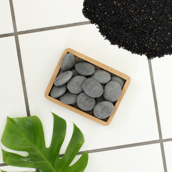 Stone Soap Spa -Sort sesame minisåper