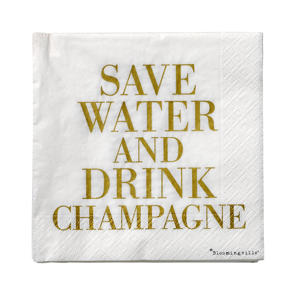Bloomingville serviett save water 33x33 cm - Annas Rom