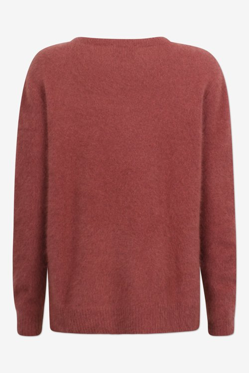 Six Ames Joie sweater etruscan red