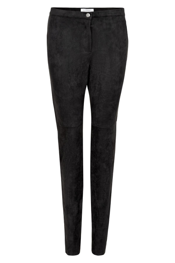 In Front San Marino Faux suede pants black
