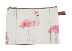 Au Maison, cosmetic bag flamingo
