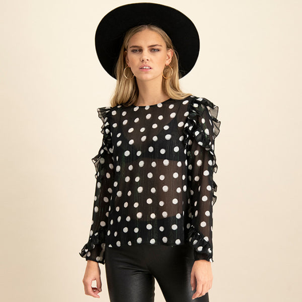 Catwalk Junkie Long Sleeve Spot On - Annas Rom