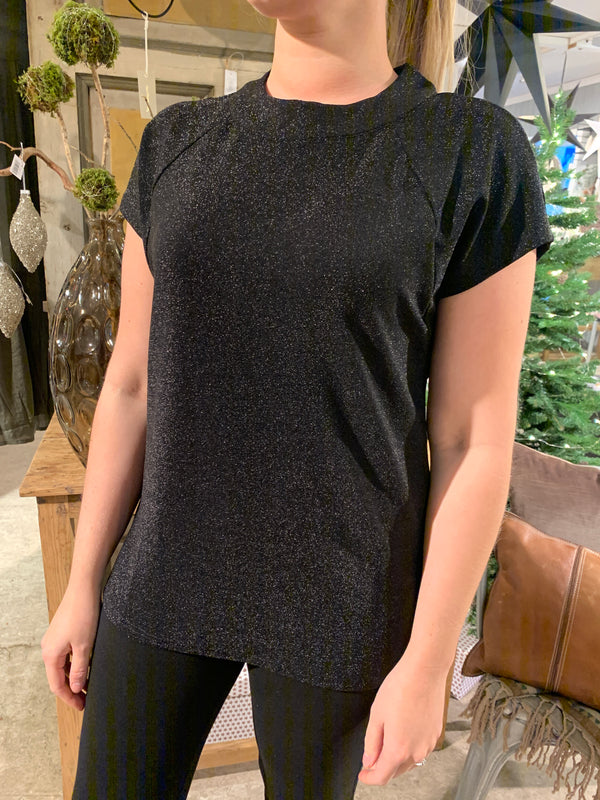 In Front Lola Blouse Black - Annas Rom