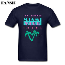 Load image into Gallery viewer, XS-3XL Miami Vice TV Show Crazy T Shirt Man Custom Cotton Short Sleeve Men T-shirt Adult Clothes Tops