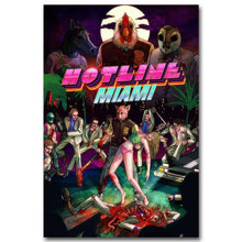 Load image into Gallery viewer, Hotline Miami Art Silk Fabric Poster Print 13x20 24x36 inch Hot Game Picture for Living Room Wall Decoration 003