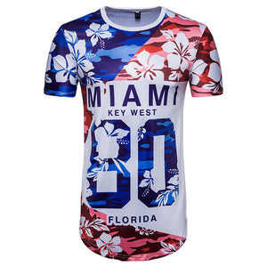 Chamsgend Newly Design Men Tees Number 80 MIAMI Letter Print World Game T Shirt  80425