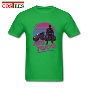 Hotline Miami Vintage Capsule Gang T shirt men anime neo tokyo akira motorcycle T-shirt homme manga tee shirt new cartoon tshirt