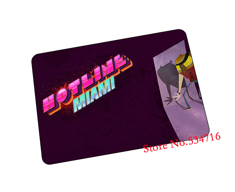Hotline Miami mouse pad Popular gaming mousepad Mass pattern gamer mouse mat pad game computer desk padmouse keyboard play mats