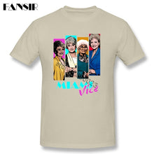Load image into Gallery viewer, 2017 Cool Miami Vice TV Series T Shirt Homme White Short Sleeve Custom Men Tee Shirt Streetwear Big Size