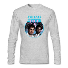Load image into Gallery viewer, Miami Vice T Shirt O-neck Cotton Long Sleeve Custom  T-shirts For Men Fashion Crossfit T Shirts