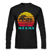 Load image into Gallery viewer, Miami 80s Sunset Miami Vice T Shirt Custom Long Sleeve Men's Shirt Hip Hop Boyfriend Cotton  T Shirts
