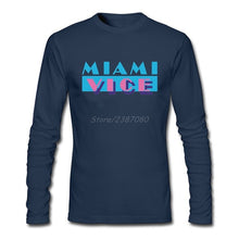 Load image into Gallery viewer, Miami Vice T Shirt Long Sleeve Men's T-shirt Hip Hop Online Cotton Crewneck  Funny T-shirts