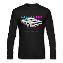 Load image into Gallery viewer, Car Miami Vice T Shirt Long Sleeve T-shirts For Men Hip Hop Undertale O-neck Cotton Tee Shirts Homme