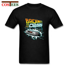 Load image into Gallery viewer, Back To The Oasis T Shirts for Men Hotline Miami ready player Customized graphic Printed T-shirt Male T Shirt delorean Tee shirt