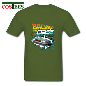 Back To The Oasis T Shirts for Men Hotline Miami ready player Customized graphic Printed T-shirt Male T Shirt delorean Tee shirt