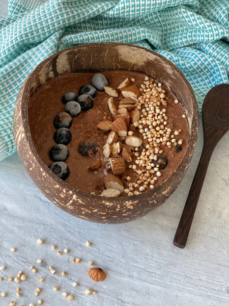 Break Your Fast With Choco Blueberry Oatmeal