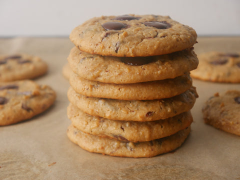Chickpea healthy chocolate chip cookie recipe by baraa el sabbagh, dietitian, personal trainer in Dubai