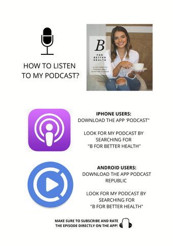 B for Better Health Podcast by Baraa El Sabbagh, registered Dietitian, personal trainer, sports nutritionist in dubai