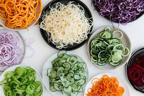 Spiralized vegetables for 5 healthy food swaps by baraa el sabbagh, dietitian, personal trainer