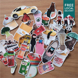 Waterproof Blind Stickers Pack