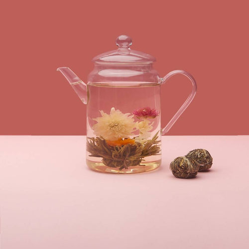 Tall Glass Teapot