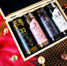 Engraved Wooden Gift Box with 4 Drinks