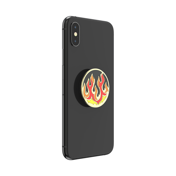 Flame On Black Enamel