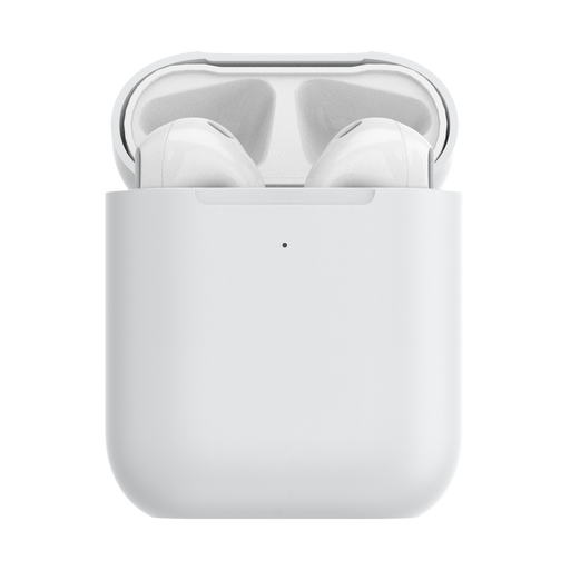 AirPod Holder White + PopChain Gunmetal Premium