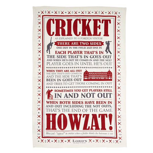 LORD'S CRICKET EXPLAINED TEA TOWEL