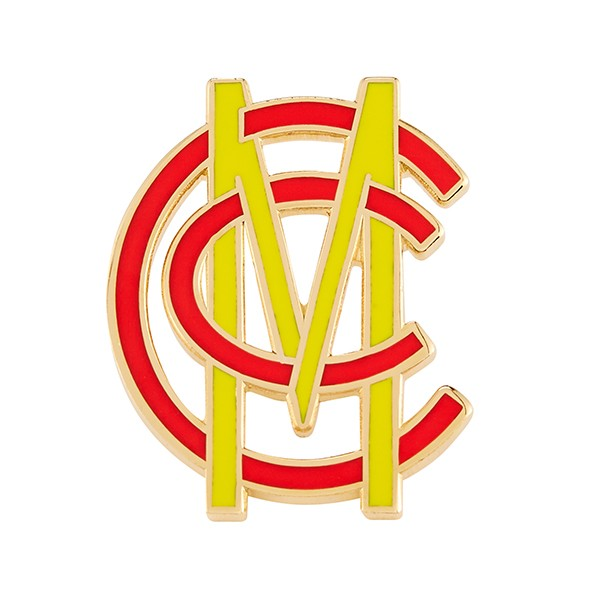 ENAMELLED MONOGRAM LAPEL PIN