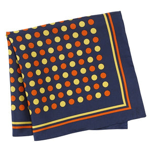 POLKA DOT CITY SILK POCKET HANDKERCHIEF