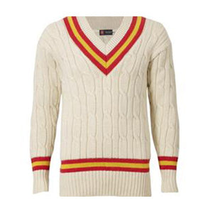 WOOLLEN LONG-SLEEVED CRICKET SWEATER