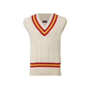WOOLLEN SHORT-SLEEVED CRICKET SWEATER