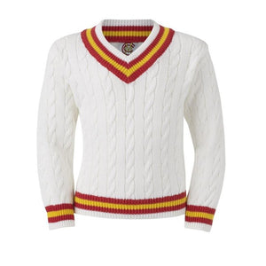 CHILD'S CABLE KNIT CRICKET SWEATER