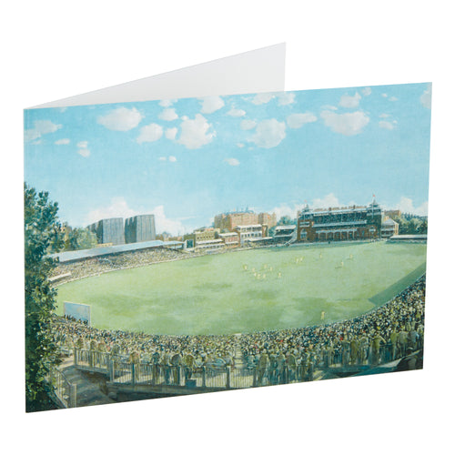 ENGLAND v AUSTRALIA AT LORD'S, 1938  - GREETING CARD & ENVELOPE