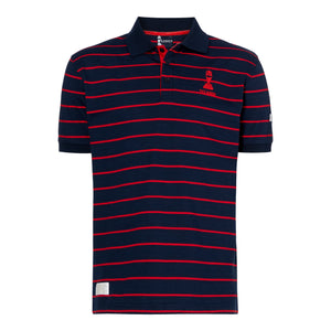 LORD'S ASHES URN NAVY/RED STRIPED POLO SHIRT