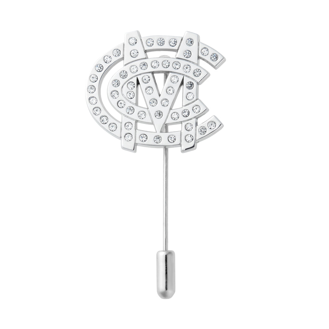CRYSTAL MONOGRAM STICK PIN