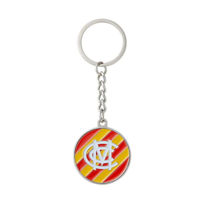 EGG AND BACON ENAMELLED METAL KEYRING