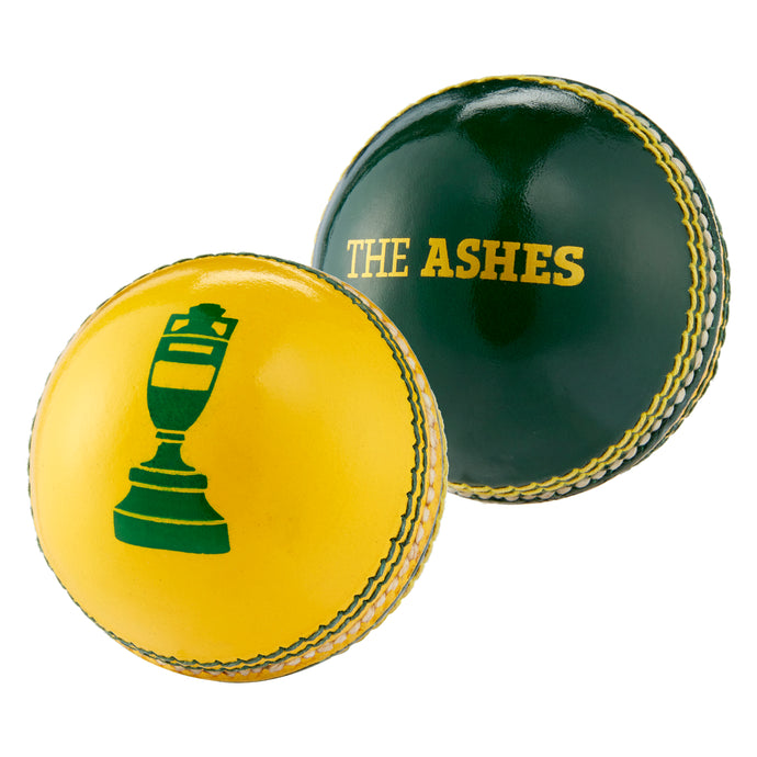 LORD'S ASHES URN SOUVENIR BALL IN GREEN & YELLOW